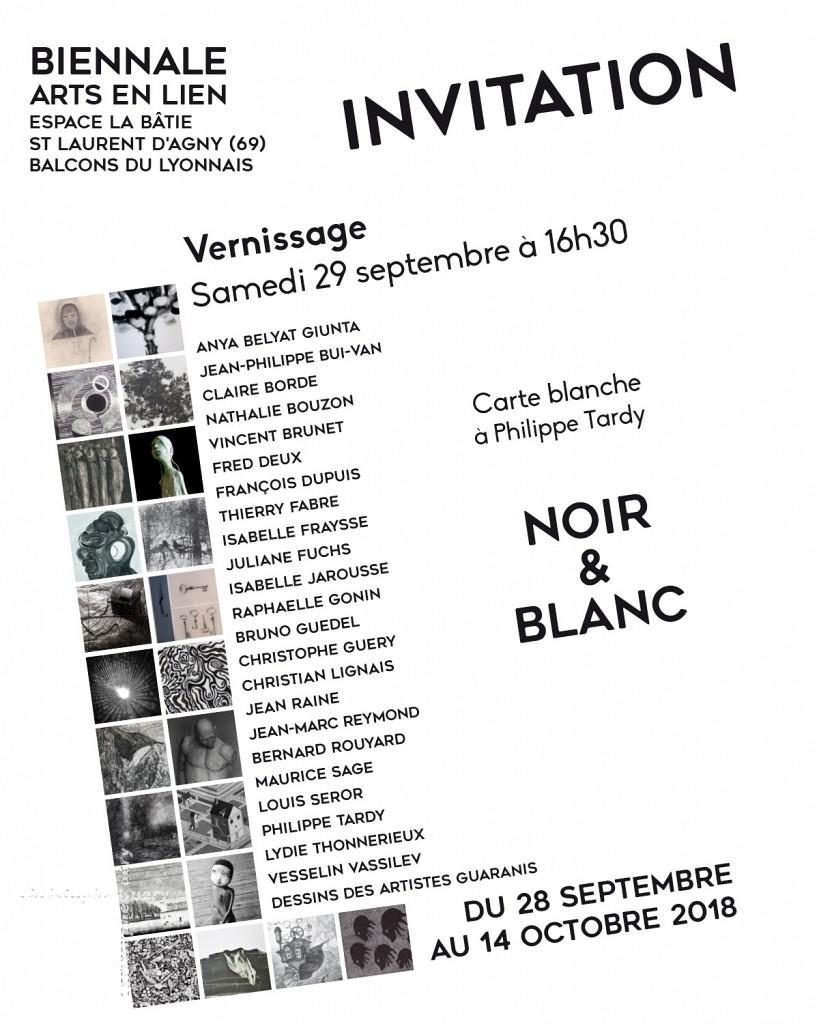 Invitation Biennale Arts en Lien